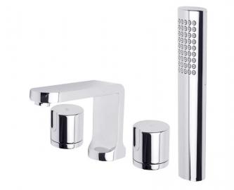 Двухрычажный смеситель для ванны Ahti BD404001