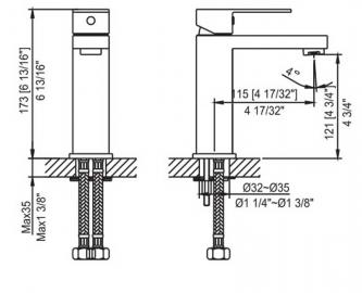 ahti установочные размеры HA201001