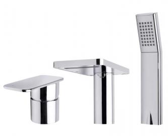 Однорычажный смеситель для ванны  Ahti врезной Naantali NT401001